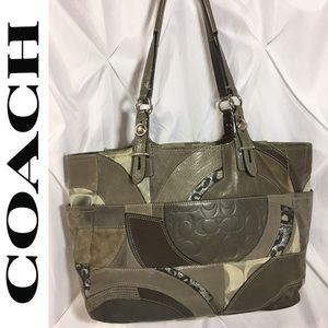 Coach Ocelot Patchwork East West tote